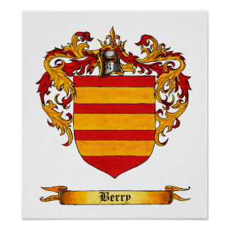 Berry Coat of Arms Poster