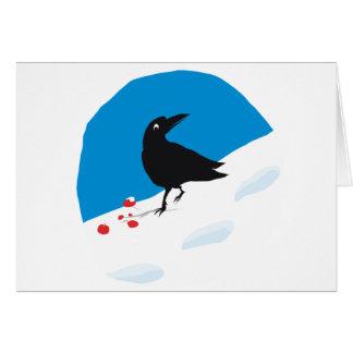 Berry crow greeting card