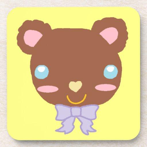 Berry Cute Bear Drink Coasters