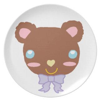 Berry Cute Bear Plate