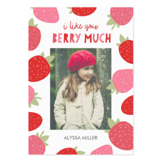 Berry Cute Classroom Valentine Large Business Card