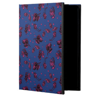 Berry Ditzy Pattern on Navy iPad Air Cover