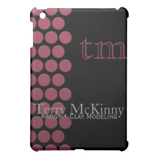 Berry Dots on Black  Cover For The iPad Mini