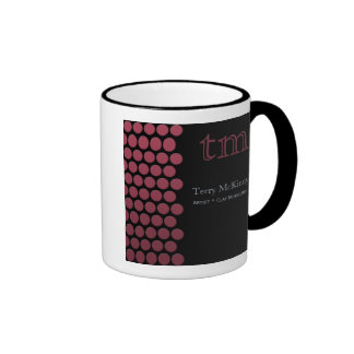 Berry Dots on Black Mug