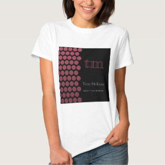 Berry Dots on Black T-Shirt