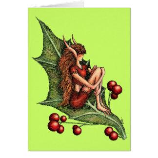 Berry Elf on Leaf Card