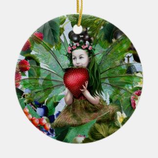 Berry Fairy Christmas Tree Ornament