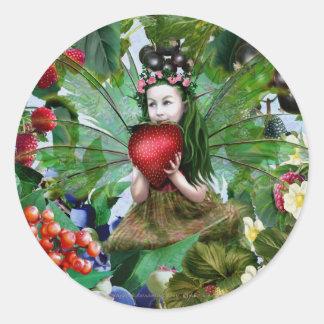 Berry Fairy Classic Round Sticker