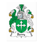 Berry Family Crest Post Cards