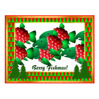 Berry Fishmas Holiday Greetings Postcard