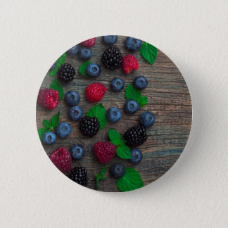 berry fruit background pinback button