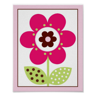 Berry Garden Flower Nursery Wall Art Print 8X10