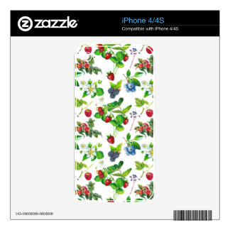 Berry Garden Spring Forest Cute Cottage Art Unique Skins For iPhone 4S