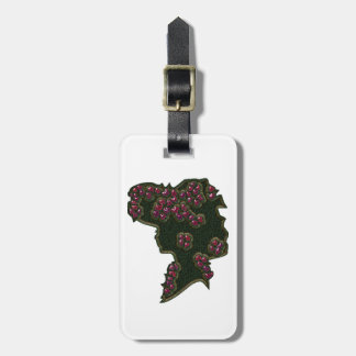 Berry Hat Cameo Luggage Tag