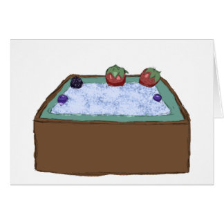 Berry Hot Tub Card