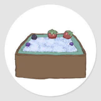 Berry Hot Tub Classic Round Sticker