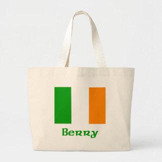 Berry Irish Flag Large Tote Bag