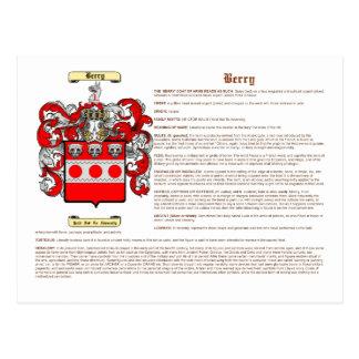 Berry (Irish(meaning)) Postcard