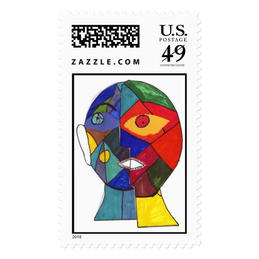 Berry Leon-Mitchell V Postage Stamp