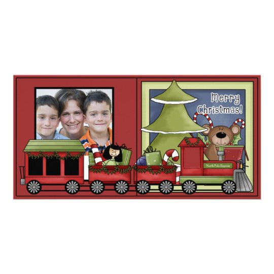 Berry Merry Christmas Holiday Photo Card Template