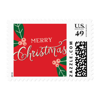 Berry Merry Christmas Holiday Postage