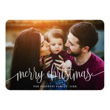 Christmas Themed Berry Merry Christmas Photo Card