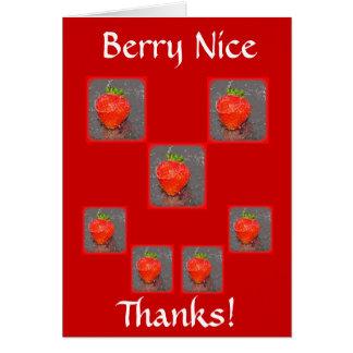 Berry Nice...Thanks! Card