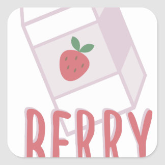 Berry Nutritious Square Sticker