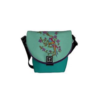Berry Parrot Messenger Bag