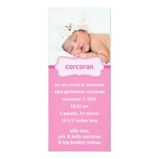 Berry Pink Bundle of Joy Photo Birth Announcements