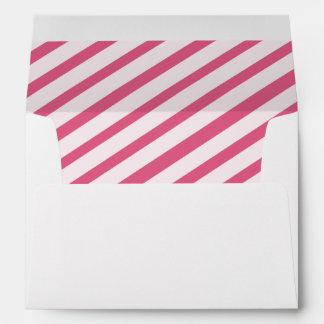 Berry Pink Carnival Stripes Lined Envelopes