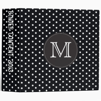 Berry Pop Black and white polka dots Vinyl Binder
