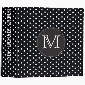 Berry Pop Black and white polka dots Binder