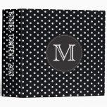 Berry Pop Black and white polka dots Vinyl Binder