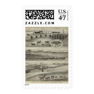 Berry Ranch, Chase and Morris Counties, Kansas Postage Stamp