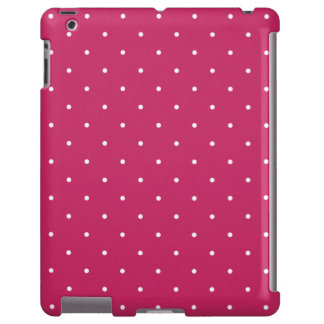 Berry Red 50's Style Polka Dot iPad 2/3/4 Case