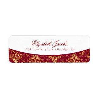 Berry Red Cluster Return Address Labels