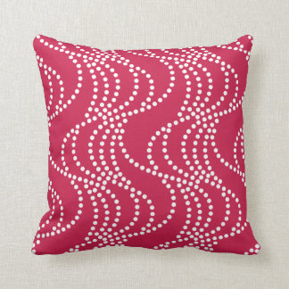 Berry Red Pattern Pillow