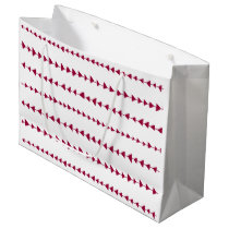 Berry Red White Aztec Arrows Pattern Large Gift Bag