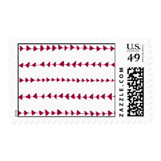 Berry Red White Aztec Arrows Pattern Stamp