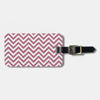 Berry red White zigzag Tags For Luggage
