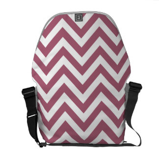 Berry Red & White Zigzag Pattern Courier Bag
