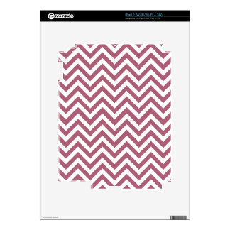 Berry Red & White Zigzag Pattern Skin For The iPad 2