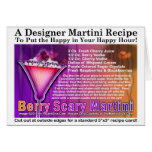 Berry Scary Halloween Martini Recipe Card