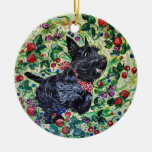 Berry Scottish Terrier Christmas Ornaments