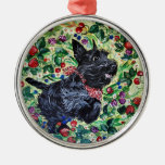 Berry Scottish Terrier Christmas Tree Ornaments