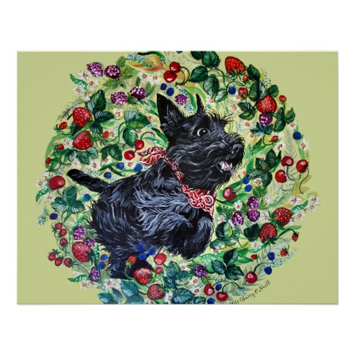 Berry Scottish Terrier! Posters