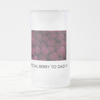 berry, SPECIAL BERRY TO DAD !! 16 Oz Frosted Glass Beer Mug