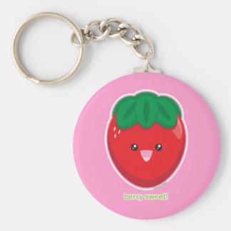 Berry Sweet Basic Round Button Keychain