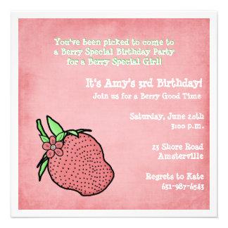 Berry Sweet Birthday Party Invitation